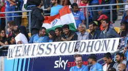 We Miss You Dhoni Fans Come Up With Special Banner In 4th T2oi Vs New Zealand