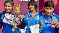 Asian Wrestling Championships India Won 3 Gold One Silver