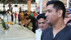 Dhoni Visits Puttaparthi Prasanthi Nilayam Here Is The Real Reason Behind It