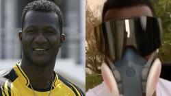Darren Sammy Wears Novel Mask For Coronovirus