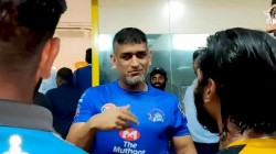 Ms Dhoni Left The Csk Camp Amid Huge Fanfare