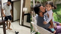 Pujara Busy Taking Care Of Daughter Helping With Daily Chores