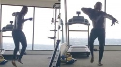 Andre Russell Plays In Gym While Doing Exercise