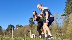 English Footballer Jack Wilshere Plays With Wife Andriani