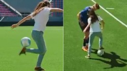 French Woman Liza Zimouche Makes Magic With Football