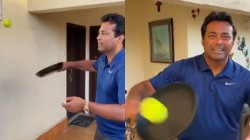 Leander Paes Dares With Frying Pan Challenge