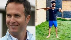 Former England Captain Trolls Ravindra Jadeja After His Sword Wielding Video