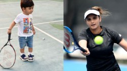 Sania Mirza Shares Son Izhaan S Photo With Tennis Racquet