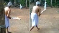 School Teacher Plays Cricket With Her Family