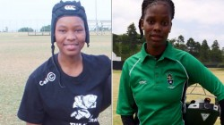 Young Sa Sportswomen And Nelson Mandela