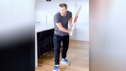 David Warner Shadow Batting Tiktok Video