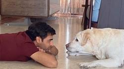 Bhuvneshwar Kumar With His Dog