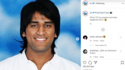 Icc Posts Old Dhoni Photo In Its Instagram