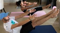 Saas Chodo Bhaju Pa Rohit Sharma S Hilarious Advice For Harbhajan Singh On International Yoga Day