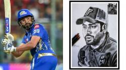 Rohit Sharma S Fan Shares Sketch Of Indian Batsman On Twitter
