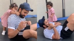 These Days Are Not Coming Back Rohit Sharma Shares Adorable Video With Daughter Samaira
