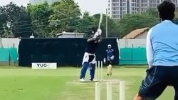 Rishabh Pant Practicing Helicopter Shot