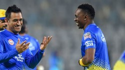 Ms Dhoni Would Never Panic He Could Absorb So Much Pressure Bravo Says