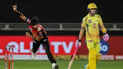 Ipl 2020 Srh Vs Csk Faf Du Plessis Got Duck Out
