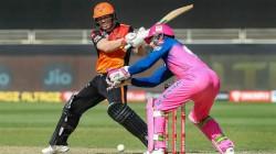 Ipl 2020 Srh Vs Rr Warner Pandey Helps Srh Score 158 Runs