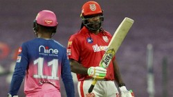 Ipl 2020 Kxip Vs Rr Chris Gayle Got Angry After Getting Out At