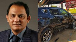 Mohammed Azharuddin Rescued In A Car Accident