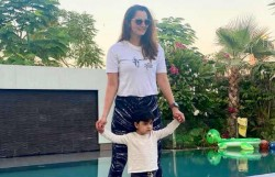 Sania Mirza S Twinning Photo With Her Little Star Son Izhaan