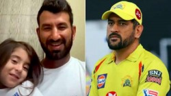 Pujara S Daughter Praised Dhoni For Being Selected His Dad In Csk Team Ipl