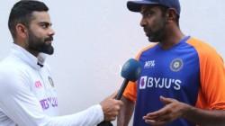 Kohli Interviews Ravichandran Ashwin After Extrodinary Innings In Chennai Test