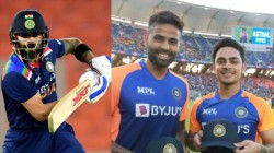Virat Kohli Handed Over The Series Trophy To Suryakumar Yadav And Ishan Kishan