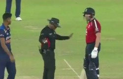 Eng Vs Ind 1st T20 Washington Sundar Jonny Bairstow Engage In Argument Watch Video