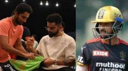 Rcb S Mohammed Azharuddeen To Frame The Jersey That Autographed By Virat Kohli