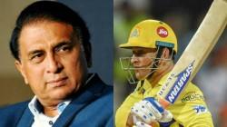 Sunil Gavaskar Wonder About Csk S Comeback In Ipl