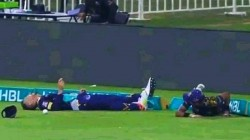 Psl 2021 Faf Du Plessis Collision With Mohammad Hasnain On Field Against Peshawar Zalmi