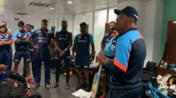 Team India Head Coach Rahul Dravid Gives Special Speech In Dressing Room After India S Win In 2nd Od