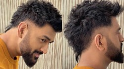 Dhoni S New Hairstyle Look Pictures Blows Up Social Media See The Pics