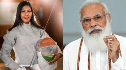 Narendra Modi Praised Fencer Bhavani Devi And Compares Her With Jhansi Ki Rani