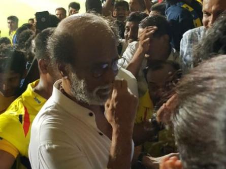 தேர்தல் வேலைதான் இல்லையே..! சென்னையில் ஐபிஎல்லை நேரில் கண்டுகளித்த ரஜினிகாந்த்