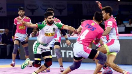 PKL 2019 : கேப்டன் அசத்தல் ஆட்டம்.. ஜெய்ப்பூர் அணியை அடித்து வீழ்த்தியது பாட்னா!